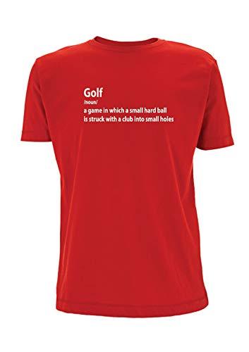 Time 4 Tee Golf T Shirt Significado de la palabra Golfing Golfer Pro Deportes Hobby Palabras Mens Top Camiseta Diccionario Regalo Rojo rosso L
