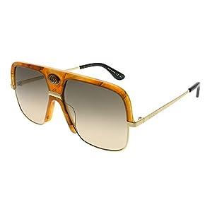 Fashion Shopping Sunglasses Gucci GG 0478 S- 003 Havana/Brown Gold
