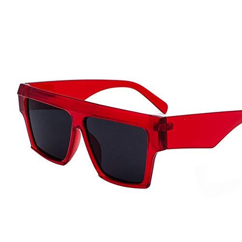 Faus Koco Personality Box Sonnenbrillen Europa Und Amerika Strand Sonnenbrillen Retro Round Face Brillen (Color : Red)