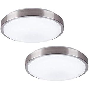 ZHMA 8-Inch LED Ceiling Lights,Flush Mount Lighting Round,12W 880LM 80W Incandescent Equivalent(AC85V-265V),Natrual White Light for Kitchen Bathroom Dining Room Closet(2-Pack)