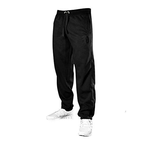 Picaldi Herren Jogginghose P | Kollektion 2020 | Schwarz | Grau, Farbe: Schwarz, Größe: XL