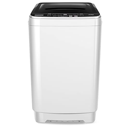 Washing Machine Nictemaw Portable Washer 17.5 Lbs Capacity Full-Automatic Compact Laundry Washer Spin with Drain Pump, 10 programs Selections with LED Display Ideal for Home, Apartments, Dorms, RV