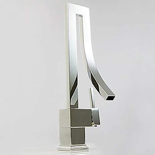 Faus Koco Grifo del Lavabo del baño - Waterfall Chrome Centeret Handle HoleBath Faucet