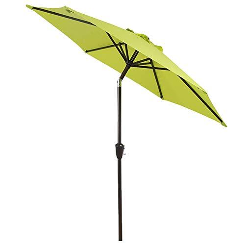 Parasols Inclinable Petit 7,3 Pieds Jardin Pelouse Parapluie D'ombre avec Manivelle, Parapluie de Patio Parapluie de Table de Marché avec Inclinaison du Bouton Poussoir