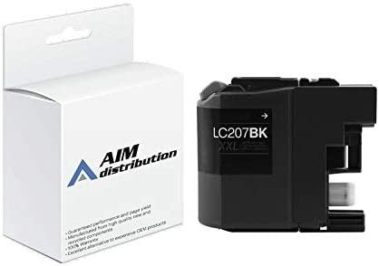 AIM Compatible Replacement for Brother MFC-J4320/4625 Black Extra High Yield Inkjet (1200 Page Yield) (LC-207BKXXL) - Generic