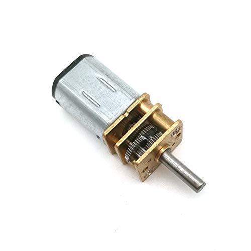 NO LOGO WJN-Motor, 1pc DC 3V Micro Speed Gear Motor 20-1500RPM N20 Mini-Metall-Untersetzungsgetriebe Motor Elektrogetriebemotoren for Auto-Roboter-Modell (Farbe : 20 RPM, Größe : 3V)