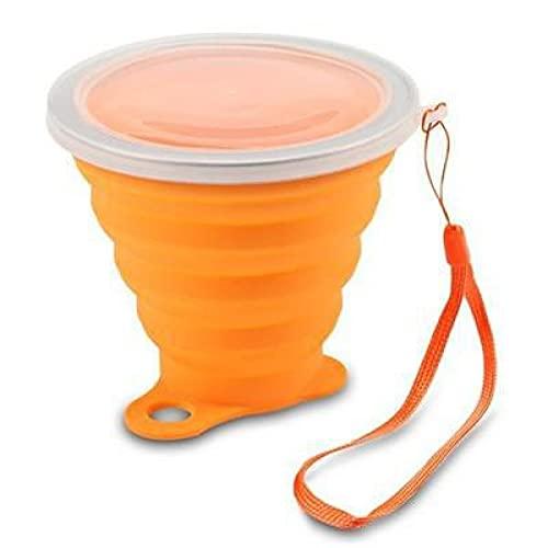 LYR Tazas Plegables 270ml BPA Taza de Agua de Grado alimenticio Viaje Silicona retráctil Color portátil Taza de café al Aire Libre