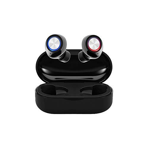 DishyKooker TW60 TWS draadloze hoofdtelefoon Bluetooth 5.0 HiFi stereo headset handsfree bellen sport dual oordopjes ingebouwde HD microfoon elektronische telefoonaccessoires voor reizen/werken