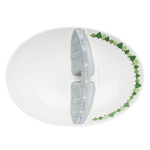 サンアート おもしろ食器 「 ダム 」 カレー皿 白 SAN2625