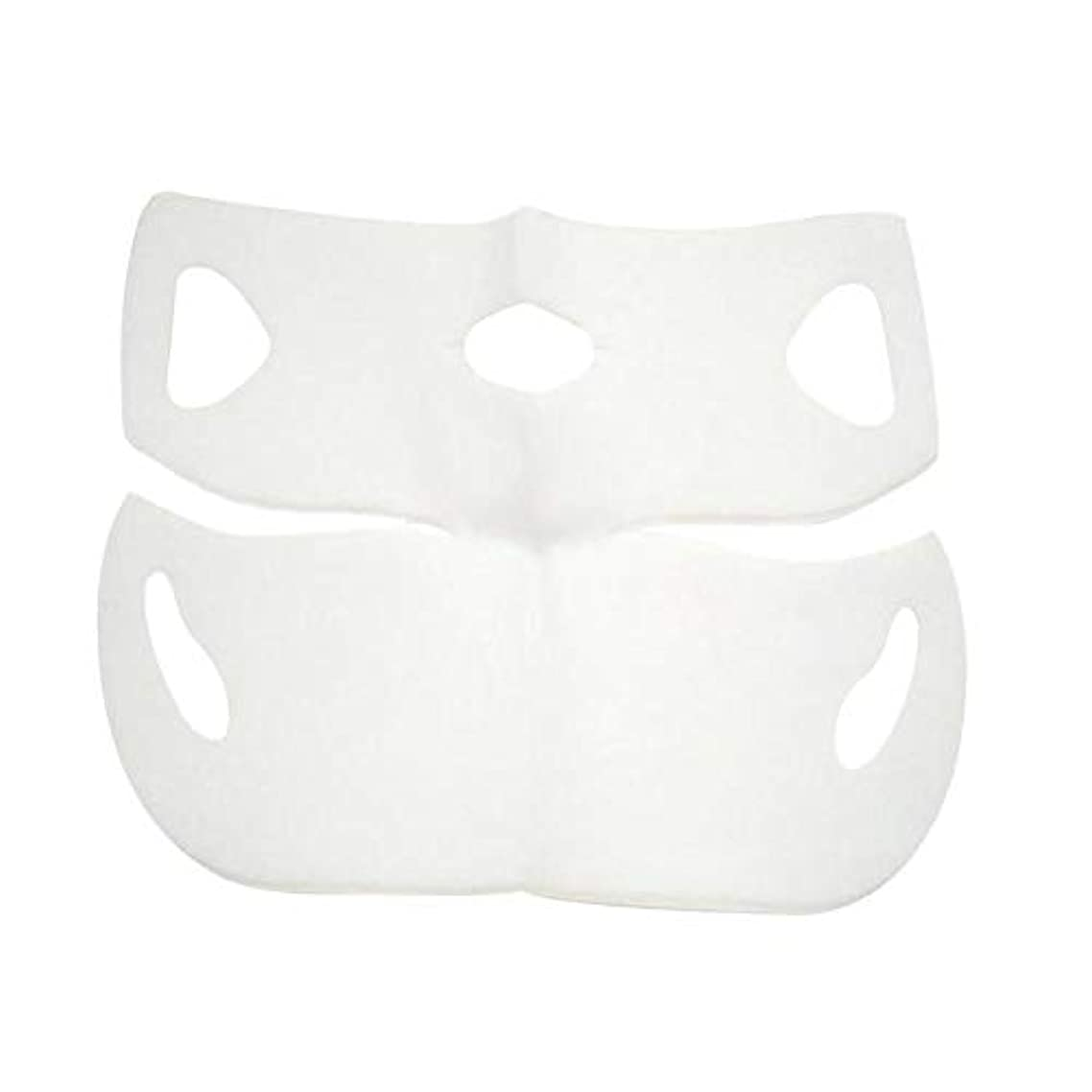 SODIAL V Shape Lifting Facial Mask Face Slim Chin Check Neck Lift Peel-Off Mask V Shaper Facial Slimming Bandage Mask Skin Care Double