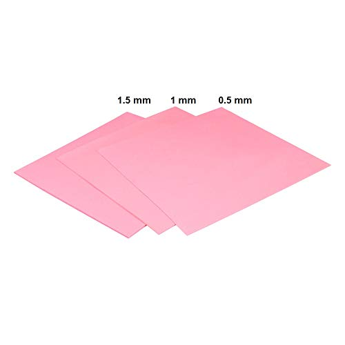 ARCTIC Thermal Pad Basic (100 x 100 mm, t: 1.5 mm) Pack of 4 - High Performance Gap Filler, Safe Handling, Non-Stick and can be easily removed and repositioned, Easy to Apply, Material: APT2012 - Pink (Best Technical Indicator For Positional Trading)