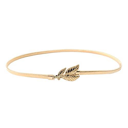 CHIC DIARY Damen Fashion Elegant Gürtel Stretchgürtel Taillengürtel Hüftgürtel Elastischer Metall Kleidgürtel, Gold/Silber