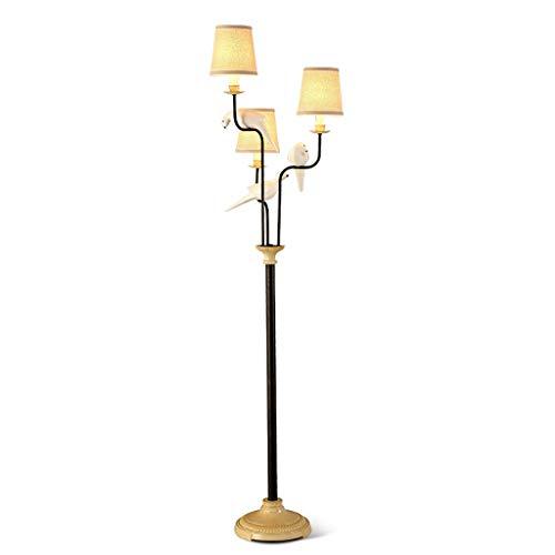 Lampadaire Nordique Little Bird pour commutateur de Pied Debout pour Lampe de Salon en Tissu pour Chambre à Coucher, Source de lumière E14 X3 LI Jing Shop