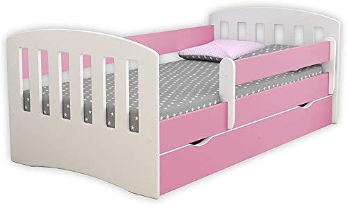 Moderna minimalista Cama doble clásica casa de los niños de los niños duraderos, no colchón incluido,Pink-140 * 80cm