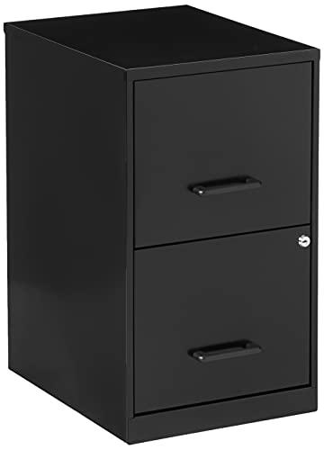 Lorell 14341 18 Deep 2-Drawer File Cabinet, Black