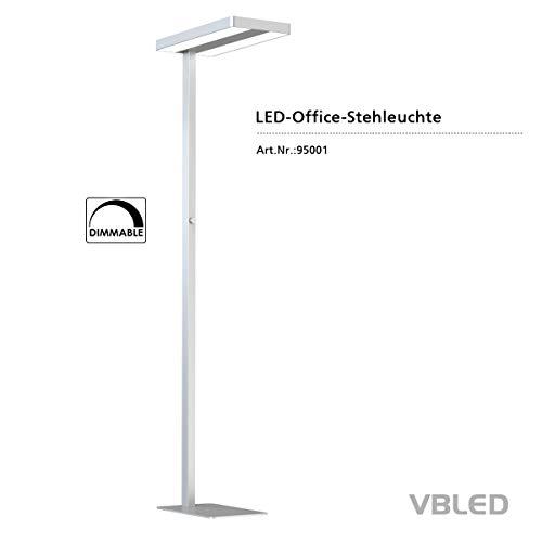 VBLED® LED Büroleuchte Arbeitsplatz Deckenfluter Stehlampe mit 6600 Lumen in Neutralweiß Ideale LED Lampe