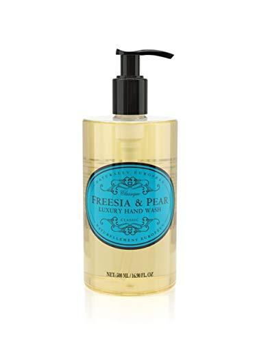 Naturally European Freesia & Pear Luxury Hand Wash, Cleanse & Moisturise - 500ml   Natural Soap Ideal for Sensitive Skin   Hand Soap, Liquid Hand Soap