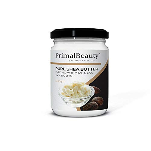Primal Beauty Shea Body Butter mit Vitamin E Öl, 500 g