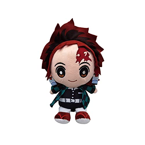 8' Anime Demon Slayer Plush Toys,Yuji Itadori Plushie Stuffed Doll Anime Keychain,Anime Character Cosplay Props,Gifts for Anime Lovers (Kamado Tanjirou)