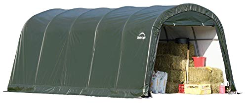ShelterLogic Replacement Cover 12Wx20Lx8H Round Garage in a Box 90603 805108 for Model 62779 (21.5oz PVC Green) -  805108 90603