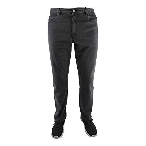 Marina del Rey Pantalones vaqueros Peter para hombre, tallas grandes, con cintura elástica gris oscuro 35