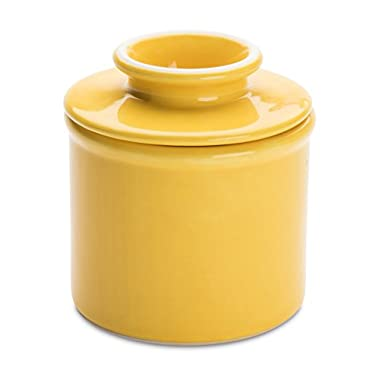 American Mug Pottery Butter Keeper/Butter Dish, Made in USA, Yellow