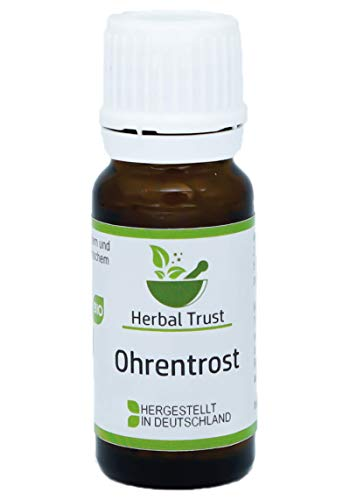 Ohrentrost von Herbal Trust | Homöopathie | Globuli | Gesunde Ohren | Schluss mit Ohrenschmerzen | Auch für Kinder geeignet| Radionisch Informiert | Bio | Made in Germany