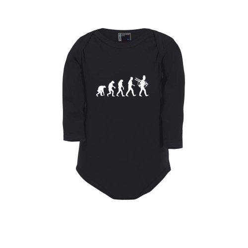Schornsteinfeger Evolution - Kaminkehrer, Baby Body, Größe 74, schwarz