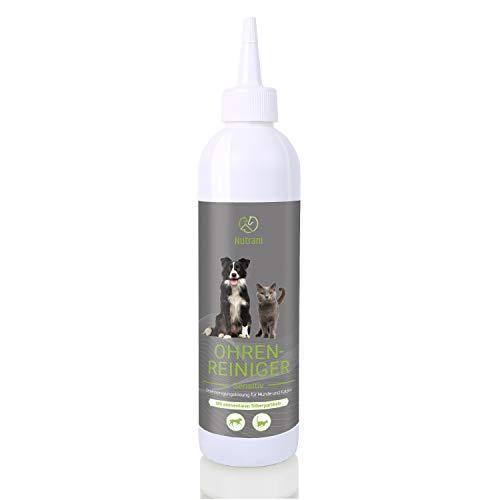 Nutrani Ohrenreiniger für Hunde und Katzen | 250ml – Sanfte Ohrenpflege zur Reinigung und Pflege von Ohr, Ohrmuschel und Ohrenschleimhaut