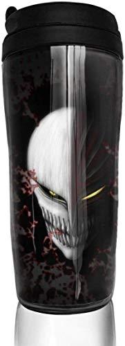 Bleach-Ichigo Mask 350 ml (12 Unzen) ABS Anime Thermoskanne Kaffeetasse mit versiegeltem Deckel Kaffeetasse Teetasse