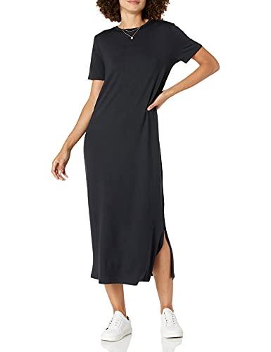 The Drop - Vestido camiseta Cora para mujer, largo midi