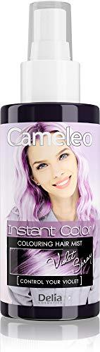 Cameleo - Farbspray für die Haare - Pastelllila - für blondes, platinblondes & graues Haar - einfach sprühen & fertig - semi-permanente lila Farbe - sofortiges Ergebnis - 150 ml