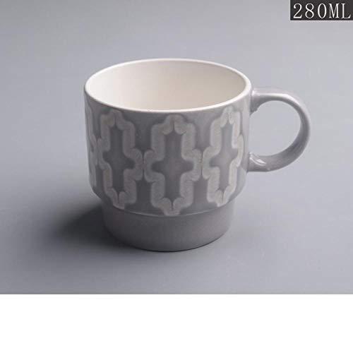 IRCATH Good In Shape Art Koffie - Mok - Creatief gevormde keramische beker landelijke Feng Shui-schaal-koffiekop-ontbijtschaal huishoudsteeschaal
