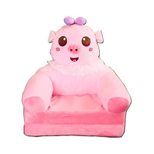 GZQDX Peluche Pieghevole for Bambini Divano Schienale Sedia Cute Cartoon Animal Dolce Sedili Bean Bag Poltrona for Sala Giochi Camera