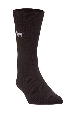APU KUNTUR Alpaka-Socken Herren & Damen Business schwarz 39-41 | d�nne, atmungsaktive, elegante Str�mpfe f�r B�ro oder Freizeit | top Qualit�t