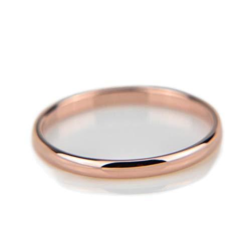 ADDYZ Anillo de acero inoxidable liso para pareja de anillos de oro simple de 4 mm para mujeres de los hombres amantes de la boda joyería