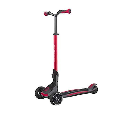 QIXIAOCYB Scooter de los niños con altura ajustable Scooter del niño magro para dirigir la iluminación de 3 ruedas Diseño de absorción de choque para niños Edad 3+ Rojo (Color : Red)