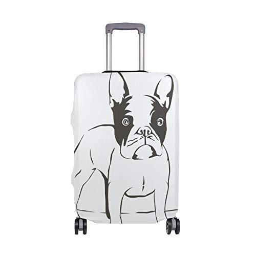 FANTAZIO - Funda protectora para maleta con diseño de bulldog pintado a mano