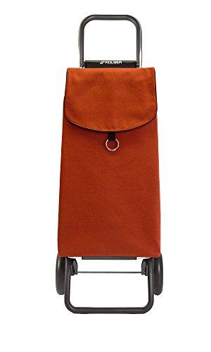 Rolser RG/Eco PEP Einkaufsroller, Edelstahl & Recycling-Material, mandarina, 41 x 32.5 x 104 cm
