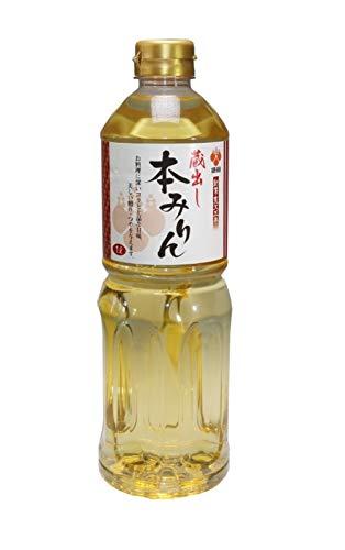 Hon Mirin (der Echte) 14% Alc. Reiswein zum Kochen, Süßer Kochreiswein, 1000ml Honmirin aus Japan