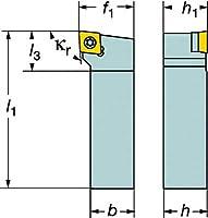 サンドビック コロターン107 ポジチップ用シャンクバイト (1個) SCLCL 2525M 12
