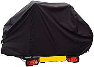 Bags and Covers Direct Motor home/Caravan 2 Bike Cover with Webbings For A Tow Ball or A - Frame Mounted Style Bike Racks (Black)