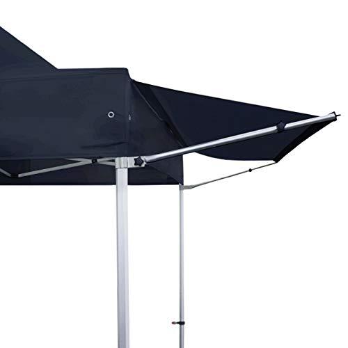 TOOLPORT 3 m Vordach Überdachung Regenschutz für Faltpavillon Pavillon Marktstand Klappzelt Faltzelt Premium von in schwarz