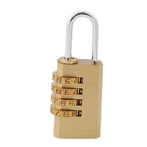X-DREE 4 dígitos bolsa de viaje de bloqueo de bloqueo reiniciable candado de combinación (Cadenas à combinaison réarmable à 4 chiffres avec sac de verrouillage de voyage