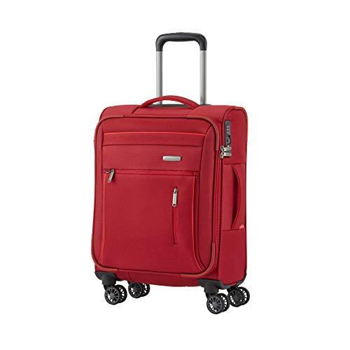 """Travelite Gepäckserie """"CAPRI"""" in 3 Farben: Praktische, elegante 2- und 4-Rad-Trolleys, Reise- und Bordtaschen Koffer, 55 cm, 38 Liter, Rot"""