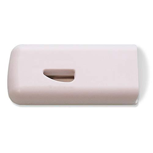 Maniny Tablettenteiler für Große/Kleine Tabletten, Tragbarer Tablettenschneider mit Klinge (Weiß)