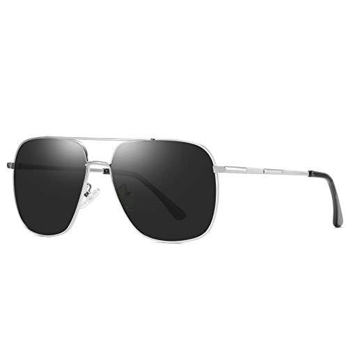 zxldsjhd Gafas de sol Gafas de sol polarizadas para hombres Gafas de sol clásicas deportivas Gafas de montar de metal
