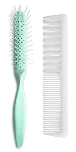 Stanley Home Products Essentials Style Glider Hairbrush & Comb Set - For All Hair Types - Wet or Dry Hair