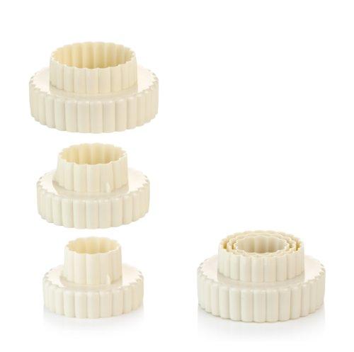 Tescoma Cortapastas Doble, círculo Rizado, 6 tamaños