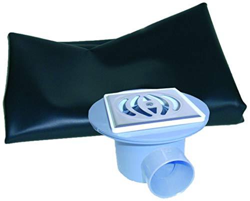 TOP SHOP Adequa afvoer sifon voor verticale en horizontale douche diameter 50-40 met waterdicht membraan voor doucheafvoer 2 x 1,3 meter